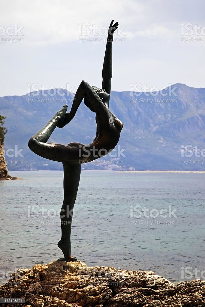Statue of ballerina royalty-free stock photo