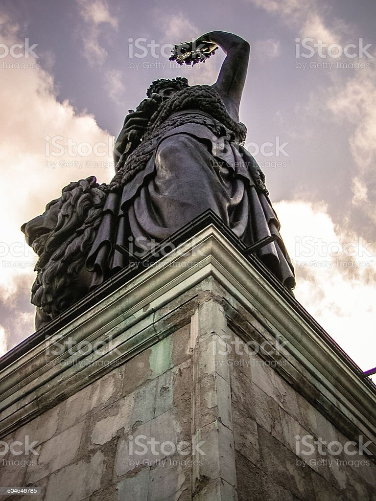 Statue of Bavaria royalty-free stock photo