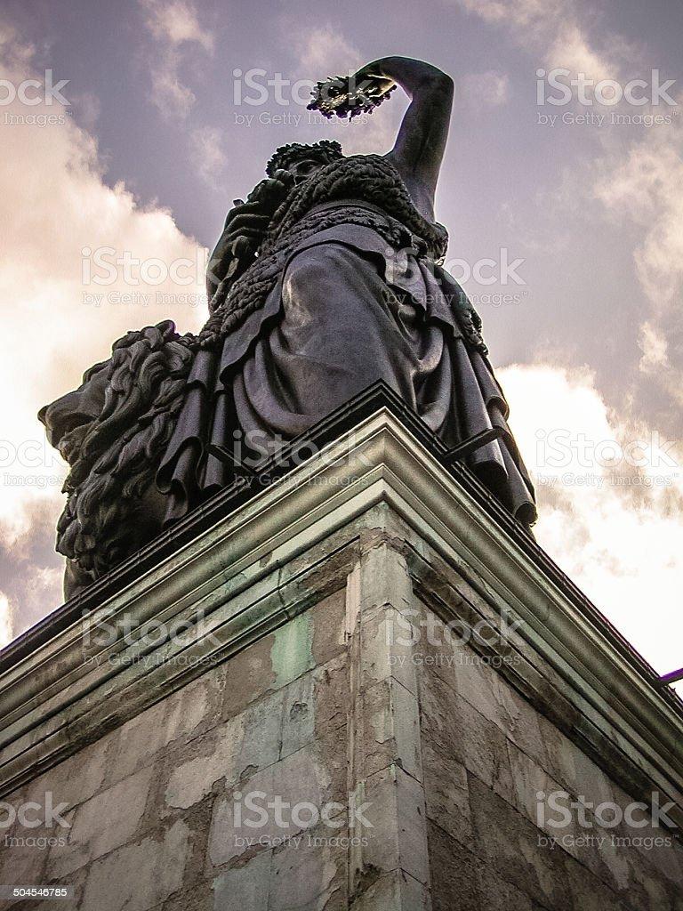 Statue of Bavaria stock photo