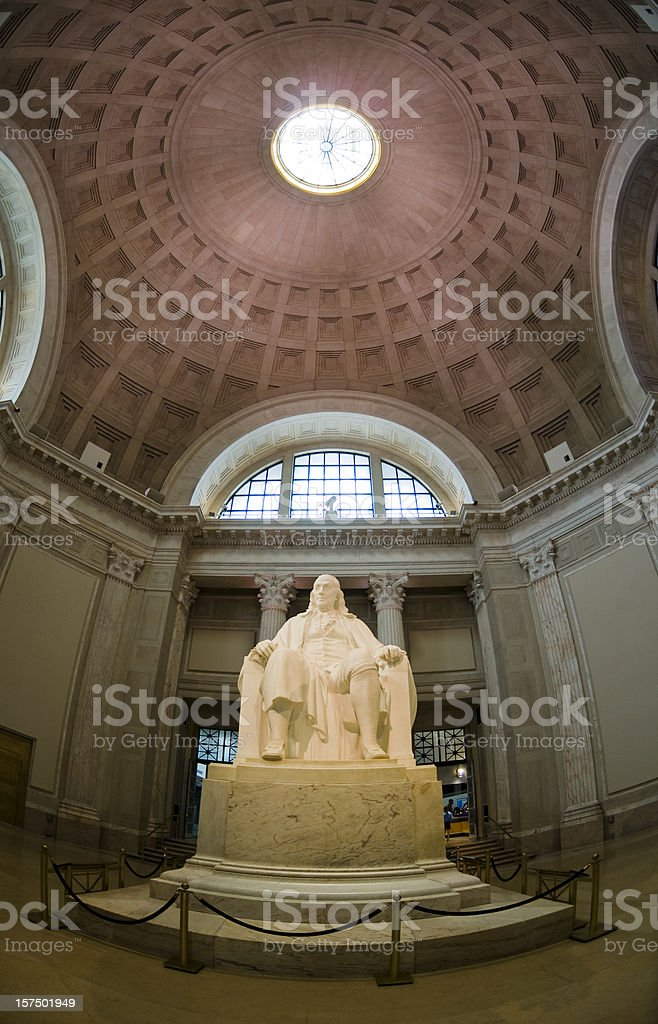 Statue of Benjamin Franklin royalty-free stock photo
