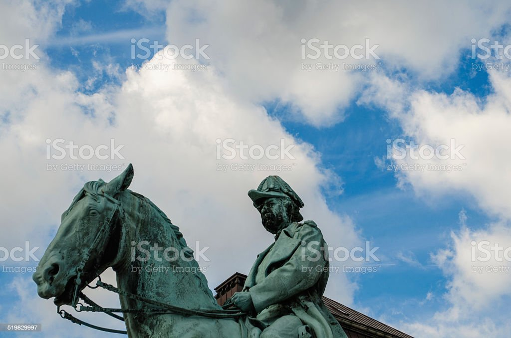 Statue of Bishop Absalon stock photo