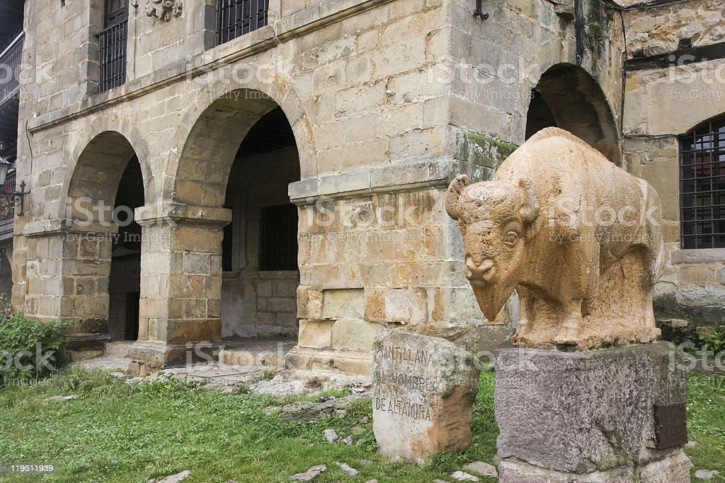 Statue of Bison, Altimira Spain's Mascot stock photo