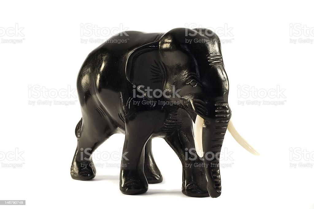 statue of black ebony elephant stock photo
