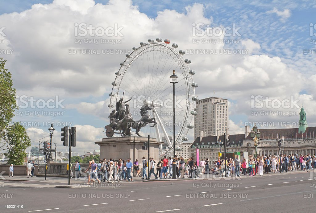 Statue of Boadicea in London, United Kingdom stock photo