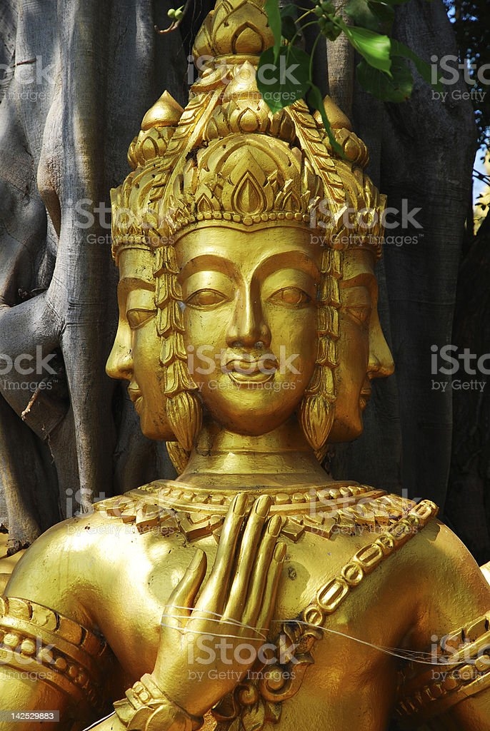 Statue of Brahma royalty-free stock photo