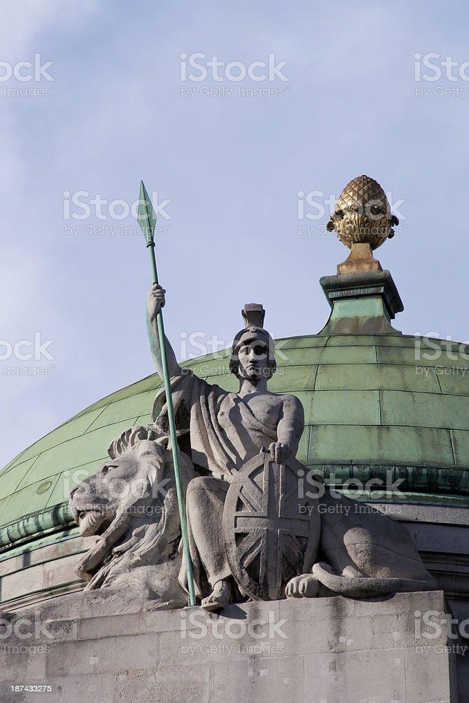 Statue of Britannia royalty-free stock photo