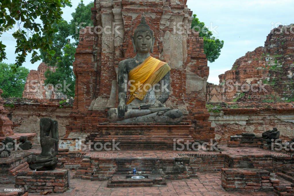 Statue of Buddha in Wat Mahathat stock photo