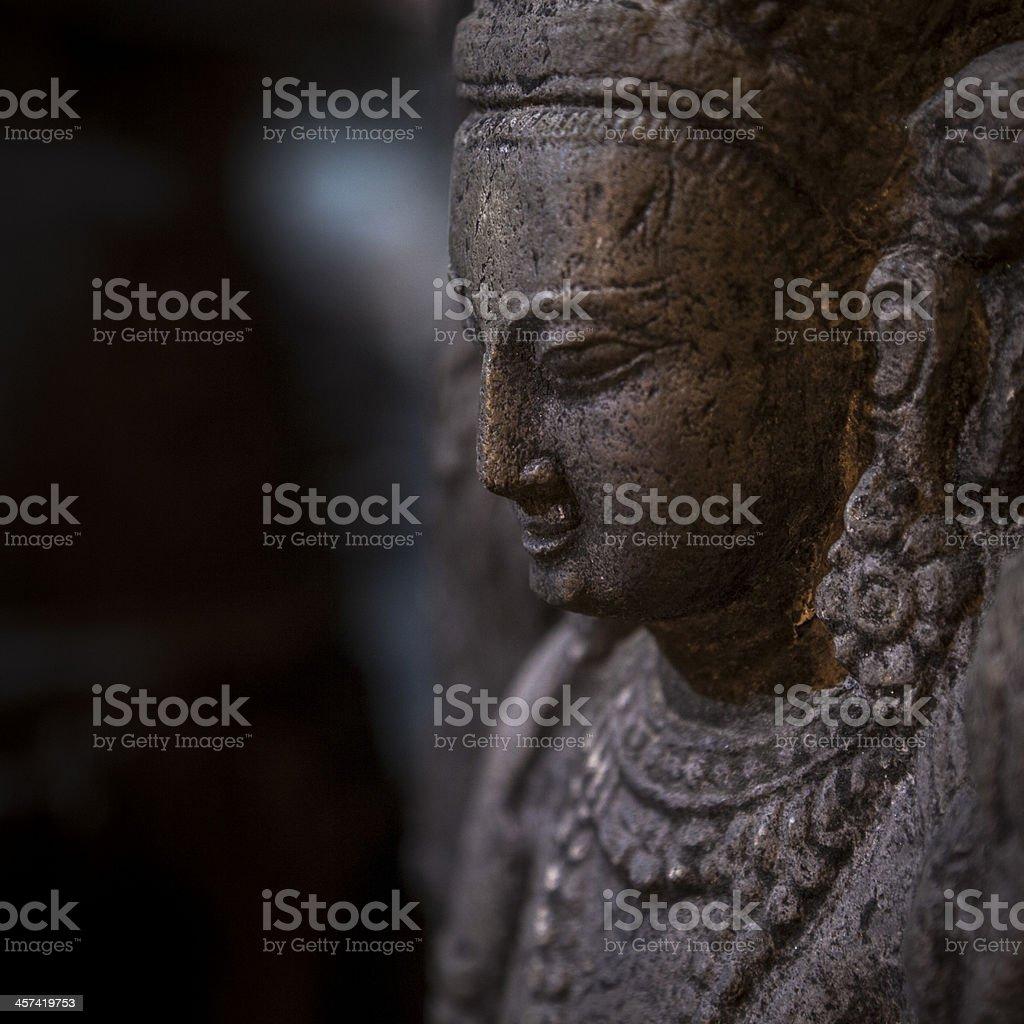 statue of Buddha taken in Swayambhunath, the Monkey Temple royalty-free stock photo