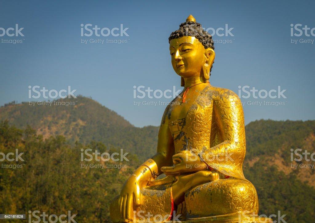 Statue of Buddha,Nepal stock photo