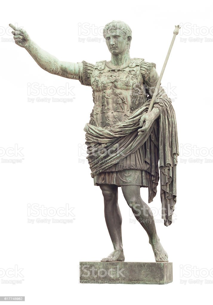 statue of Caesar in Rome stock photo