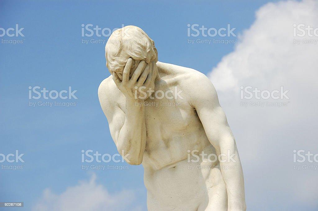 Statue of Cain, Jardin de Tuileries, Paris royalty-free stock photo