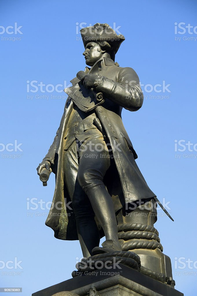 Statue of Captain Cook stock photo
