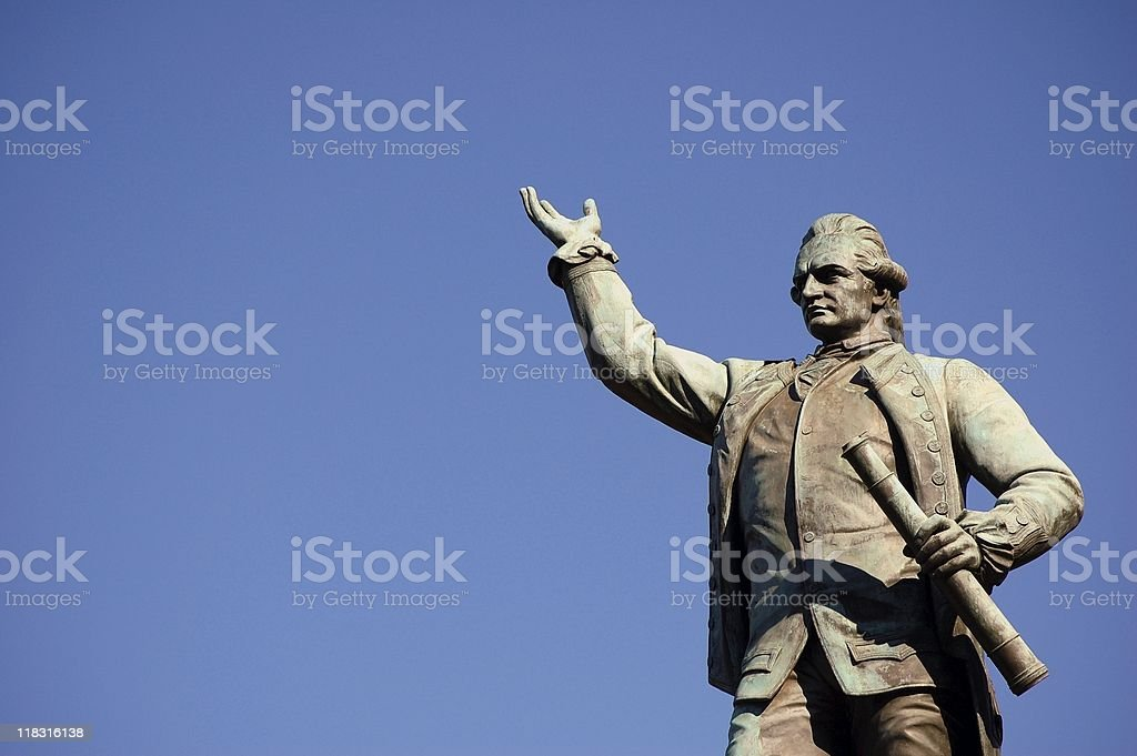 A statue of Captain James Cook stock photo