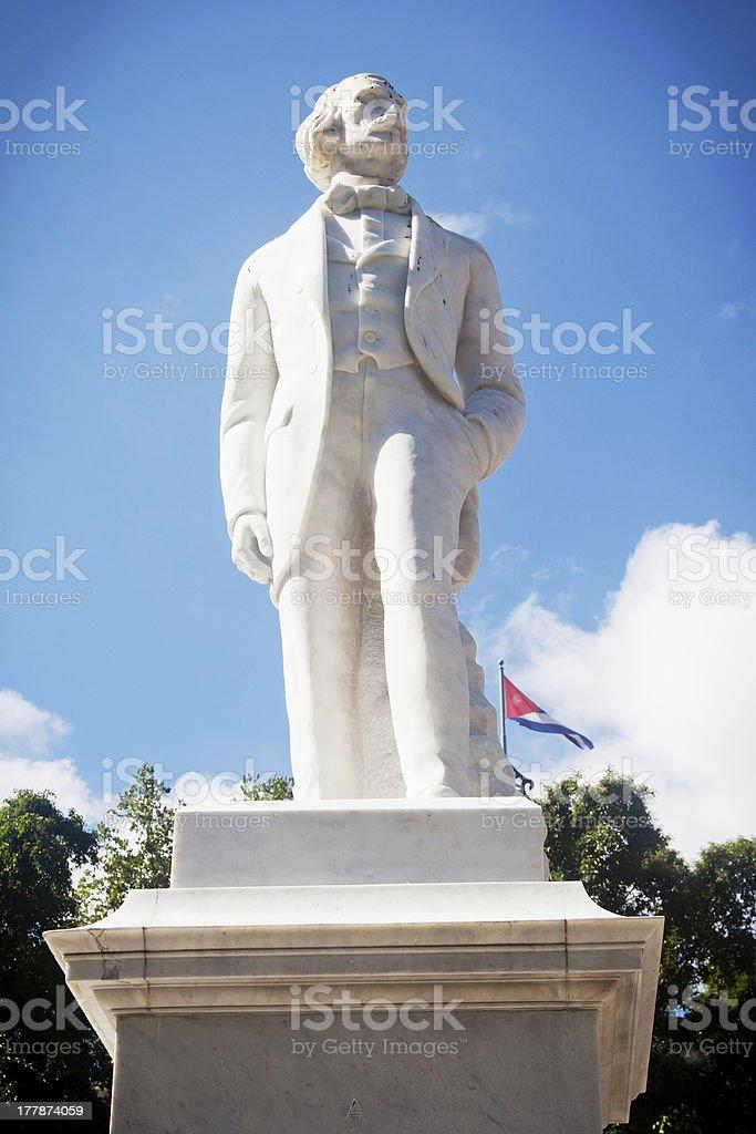 Statue of Carlos Manuel De Cespedes, Havana, Cuba stock photo