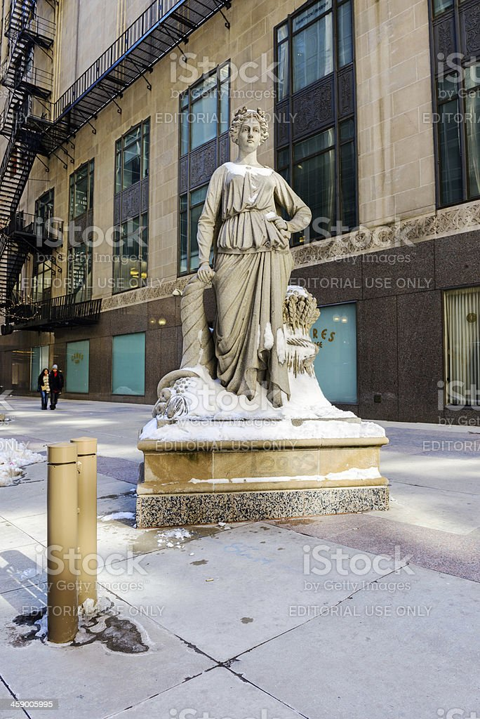 Statue of Ceres in The Loop. Chicago stock photo