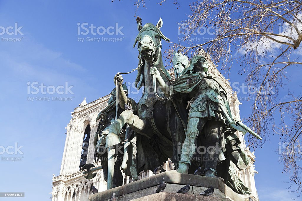 Statue Of Charlemagne in stock photo