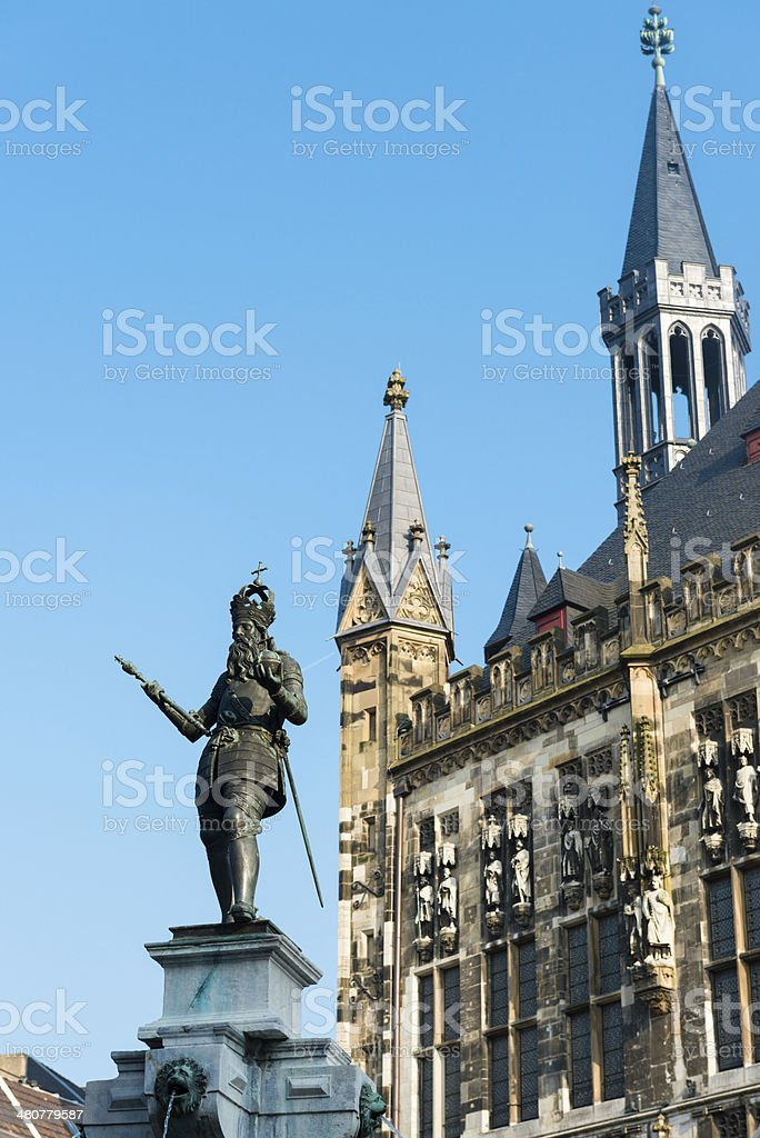 Statue of Charlemagne stock photo
