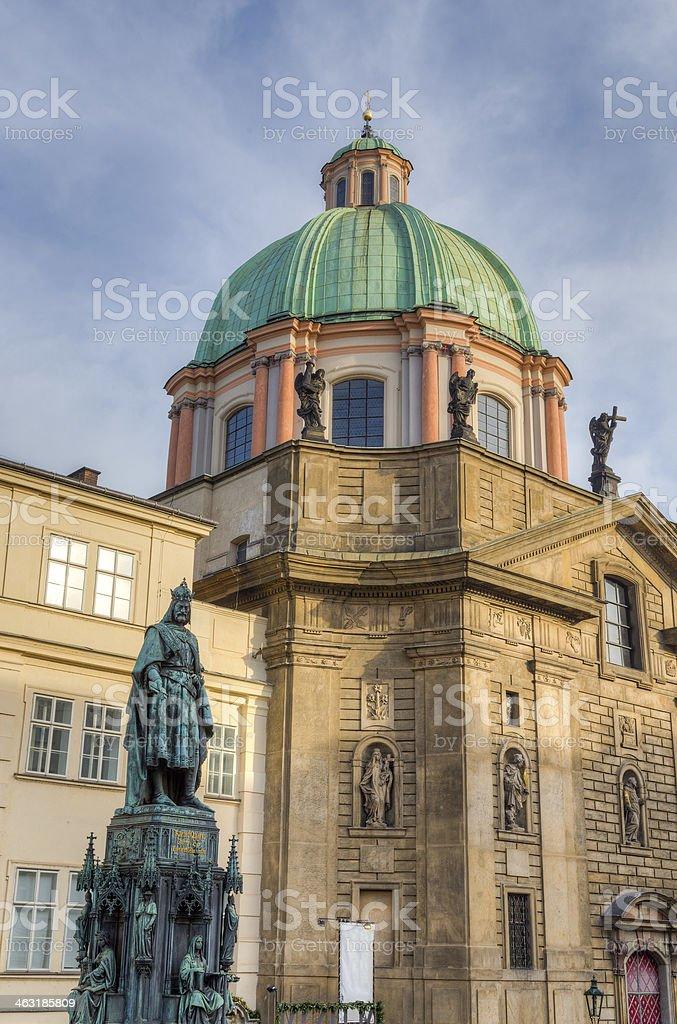 Statue of Charles IV, Prague, Czech Republic stock photo