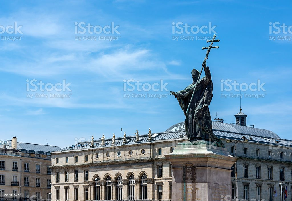 Statue of Charles Martial Lavigerie in Bayonne. France. stock photo