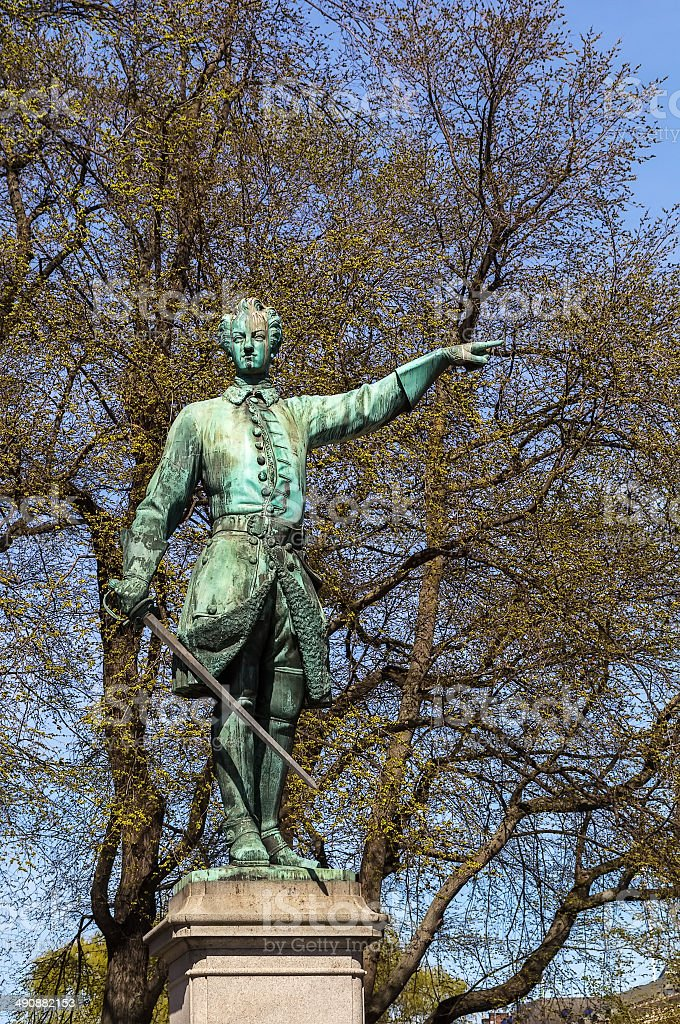 Statue of Charles XII, Stockholm stock photo