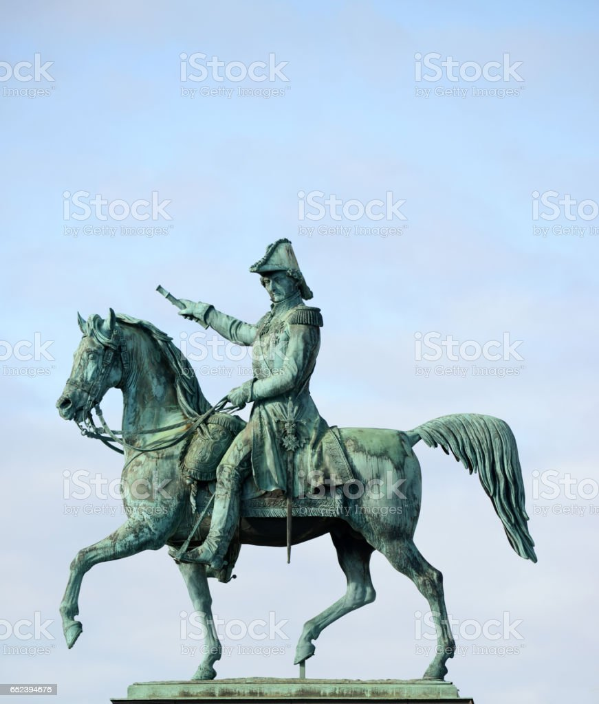 Statue of Charles XIV John former king of Sweden (Stockholm) stock photo