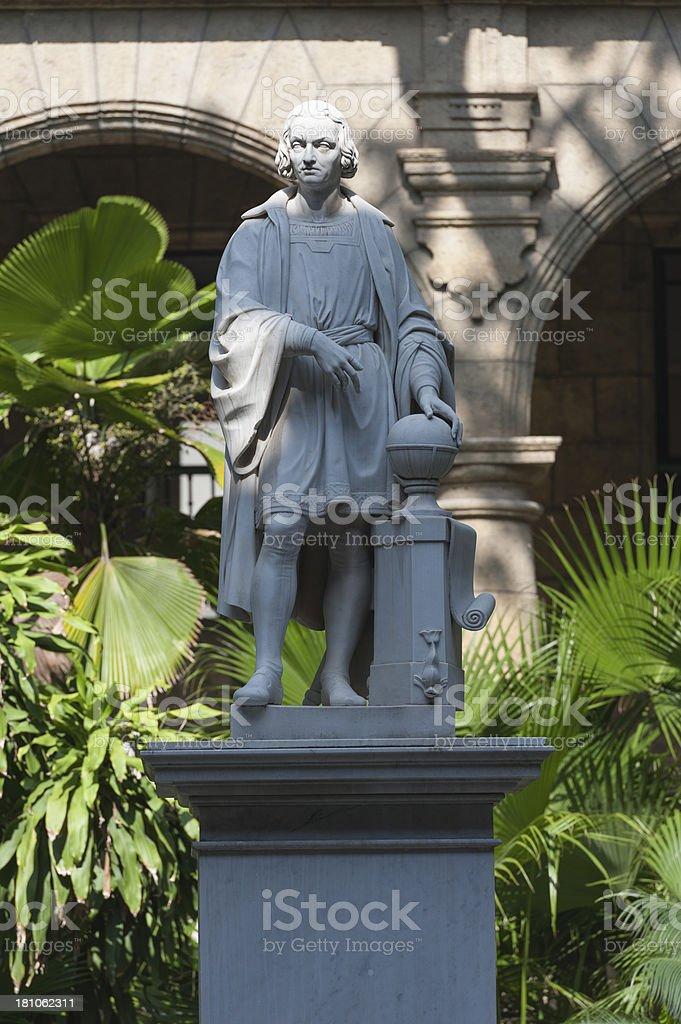 statue of Christopher Columbus in downtown Havana, cuba stock photo