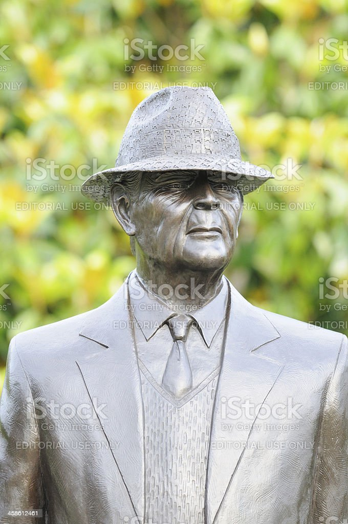 Statue of Coach Paul W Bear Bryant stock photo