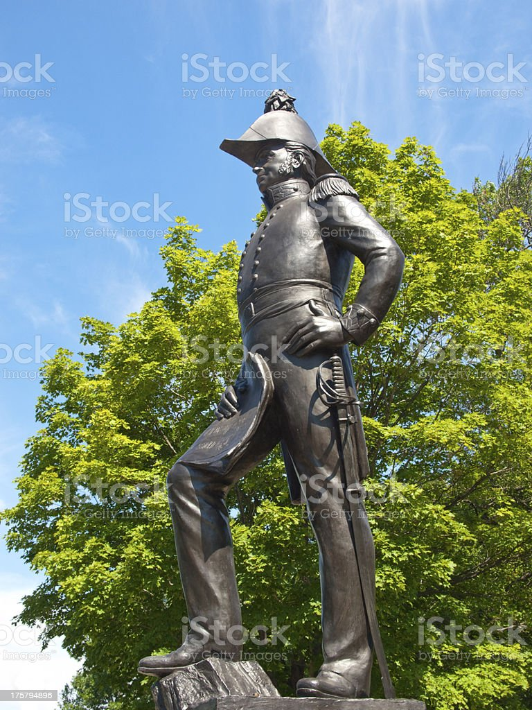 Statue of Colonel John By, engineer, in Ottawa, Canada stock photo