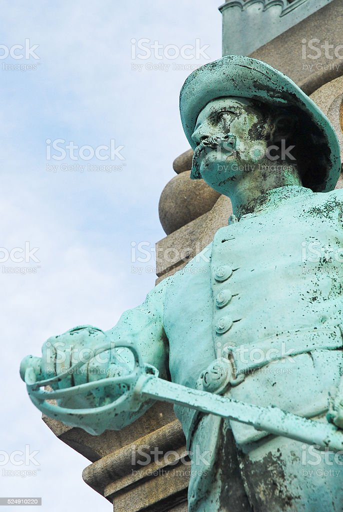 Statue of Confederate Soldier stock photo