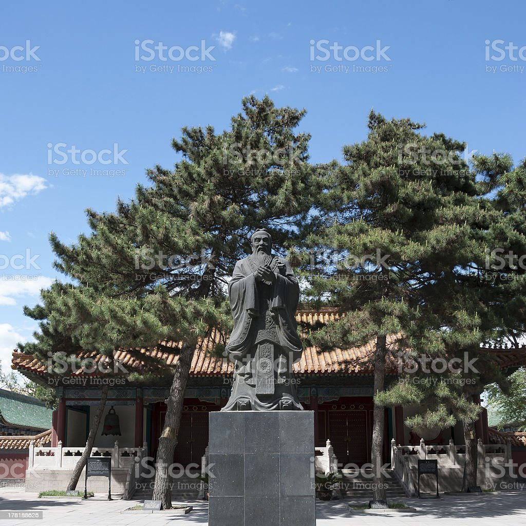 Statue of Confucius royalty-free stock photo