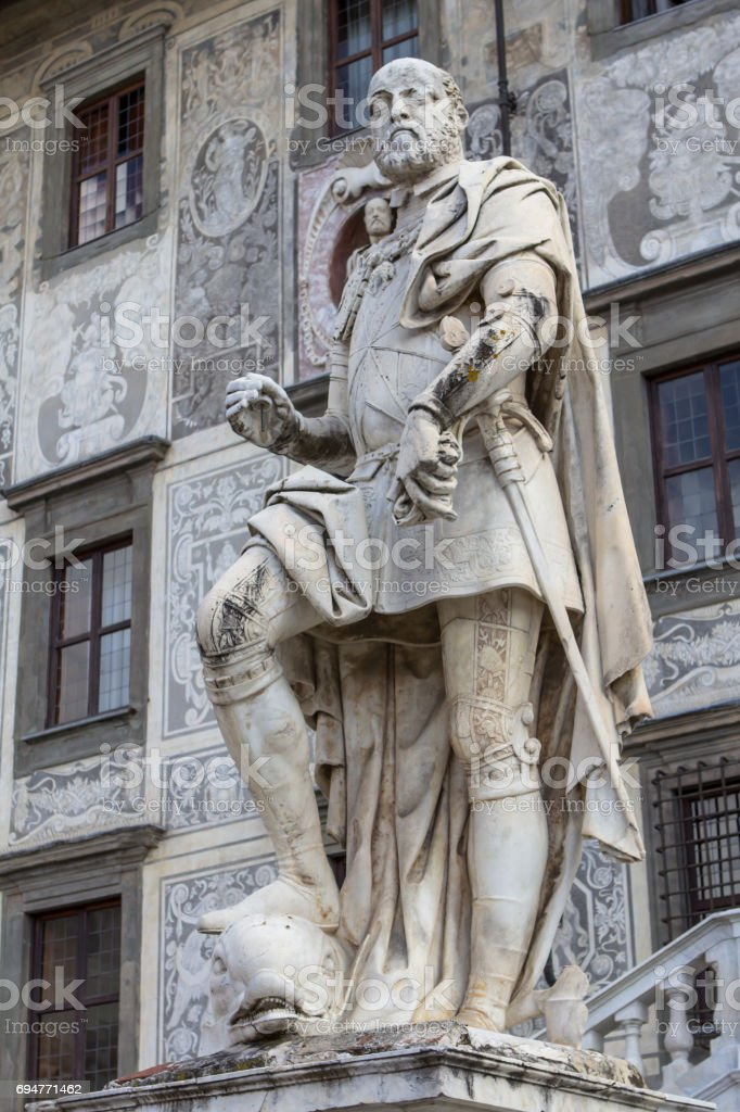 Statue of Cosimo I Medici, Tuscany, Italy stock photo