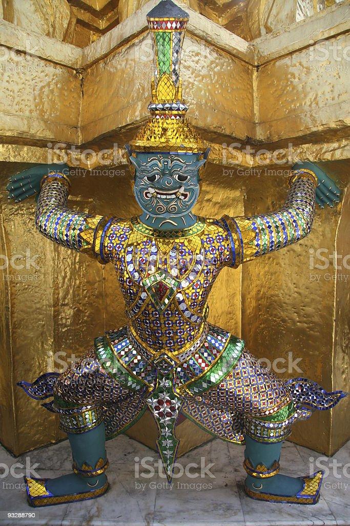Statue of demon at Wat Phra Kaew, Bangkok royalty-free stock photo