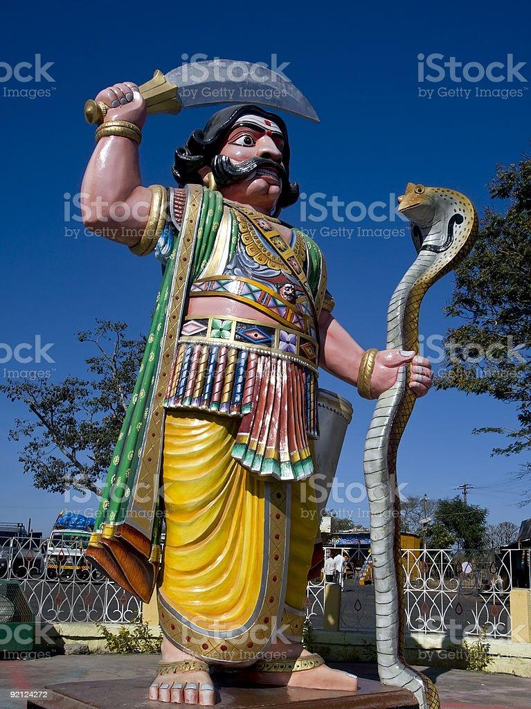Statue of Demon Mahishasura on Chamundi Hill India royalty-free stock photo