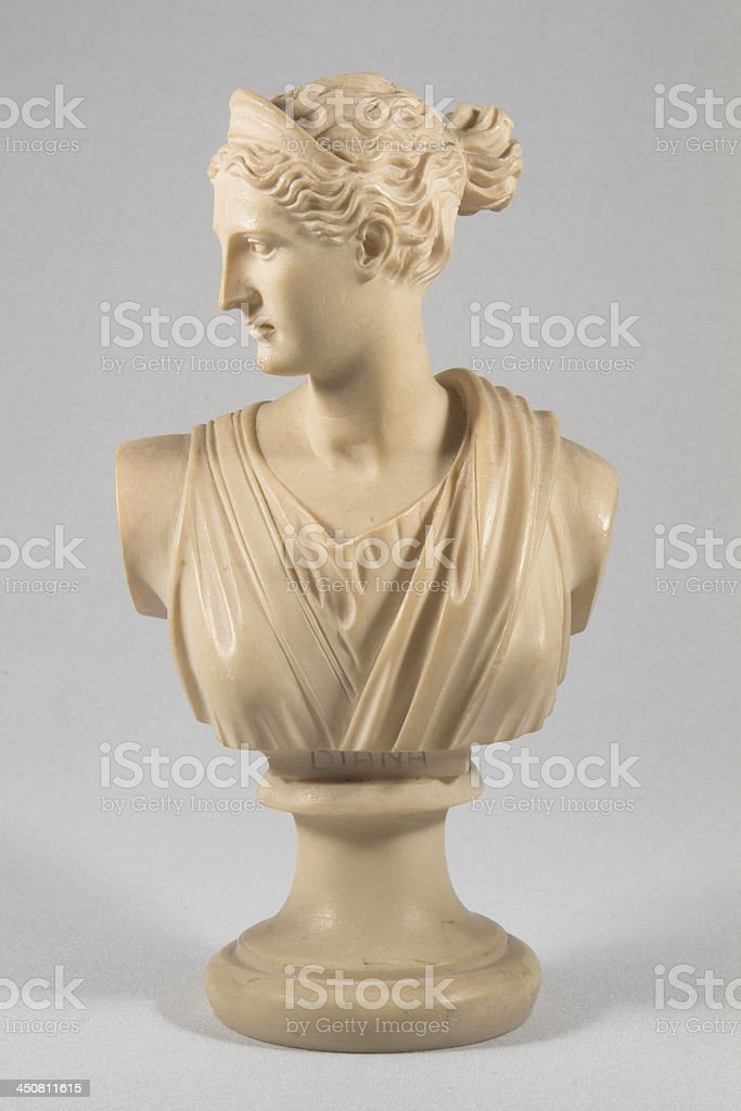 Statue of Diana, Roman Goddess With Clipping Path stock photo