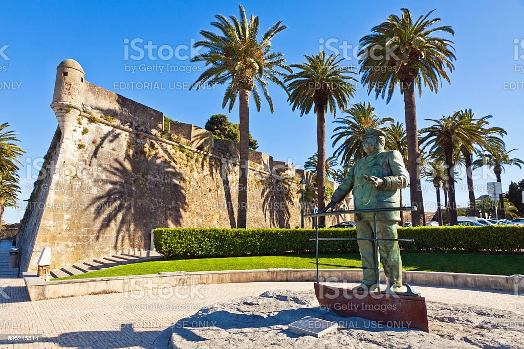 Statue of Dom Carlos I of Portugal stock photo