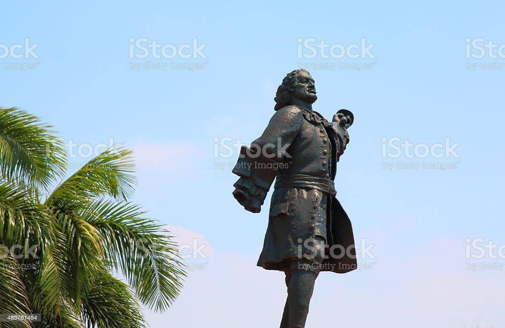 Statue of Don Blas de Lezo Cartagena Colombia stock photo