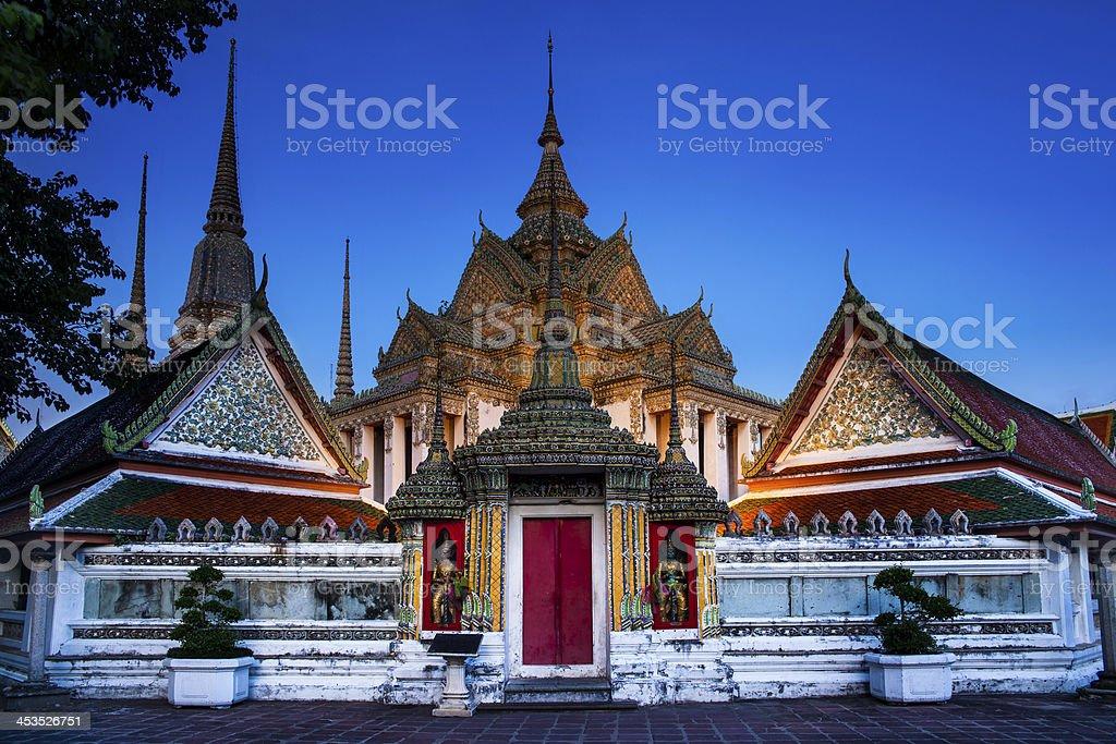 Statue of Doorman at Wat Pho, attractions in Bangkok Thailand stock photo