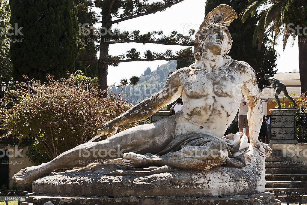 Statue of dying Achilles stock photo