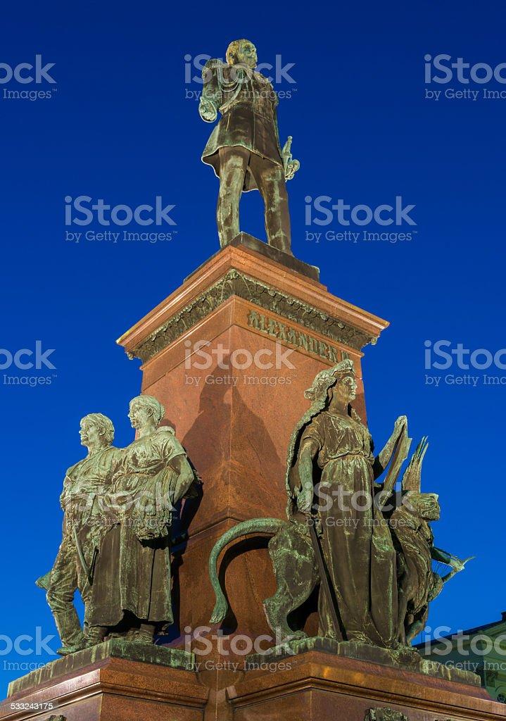 Statue of Emperor Alexander II stock photo