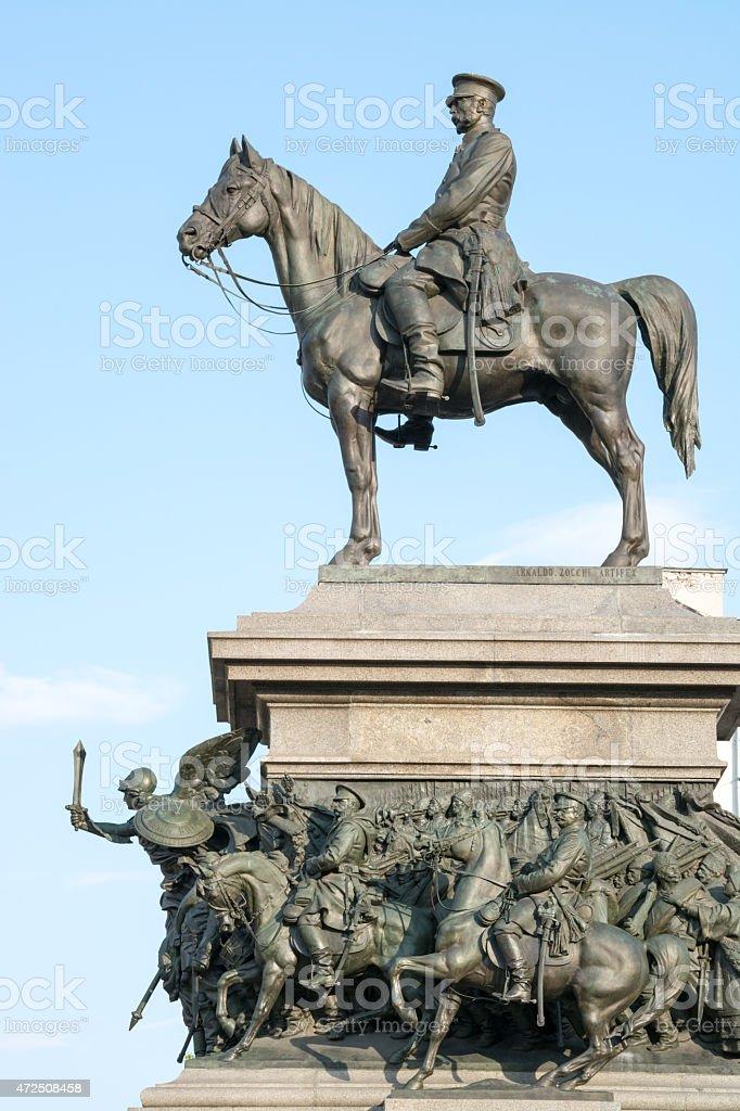 Statue of Emperor Alexander II, Sofia, Bulgaria stock photo