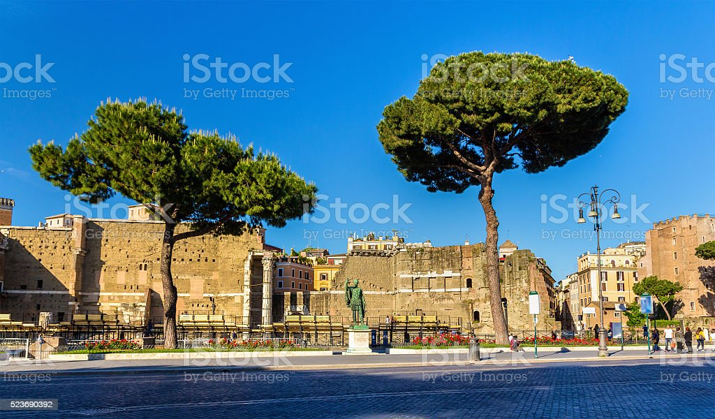 Statue of emperor Nerva in Rome stock photo