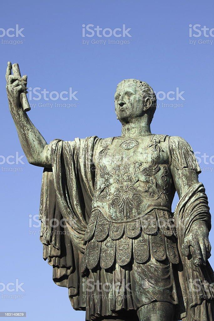 Statue of emperor Nerva royalty-free stock photo
