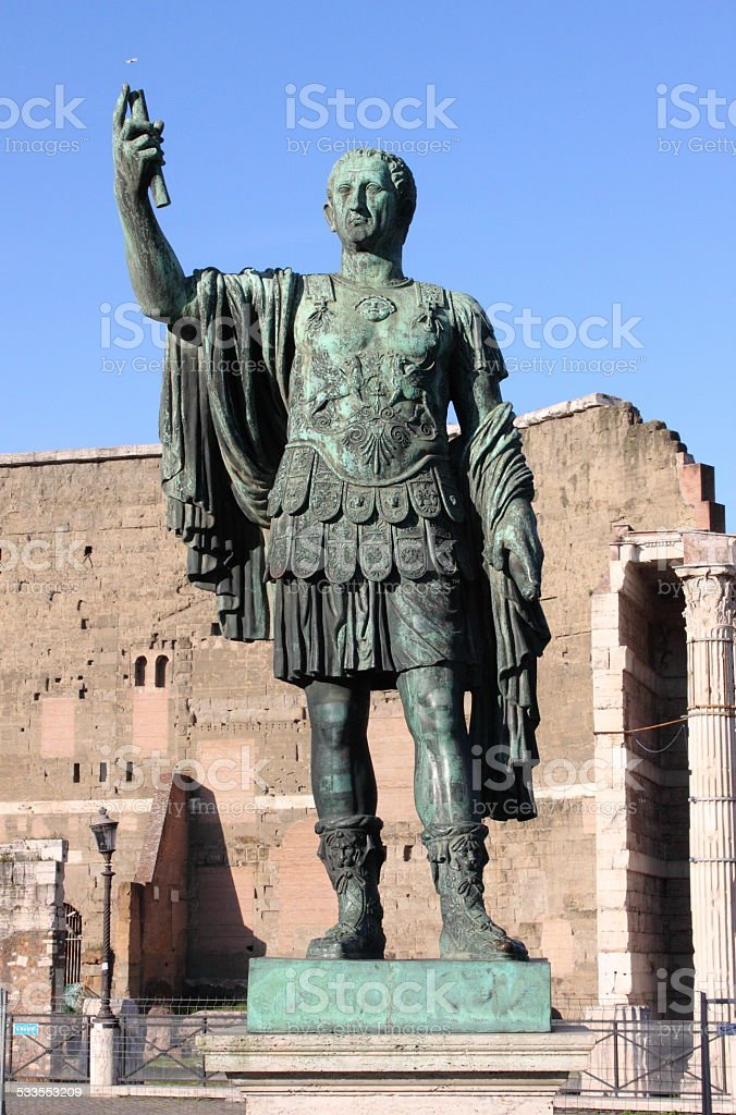 Statue of emperor Nerva stock photo