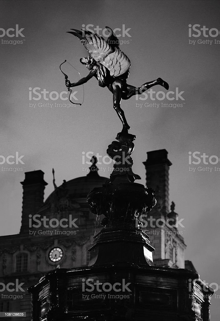 Statue of Eros, Piccadilly Circus, London stock photo