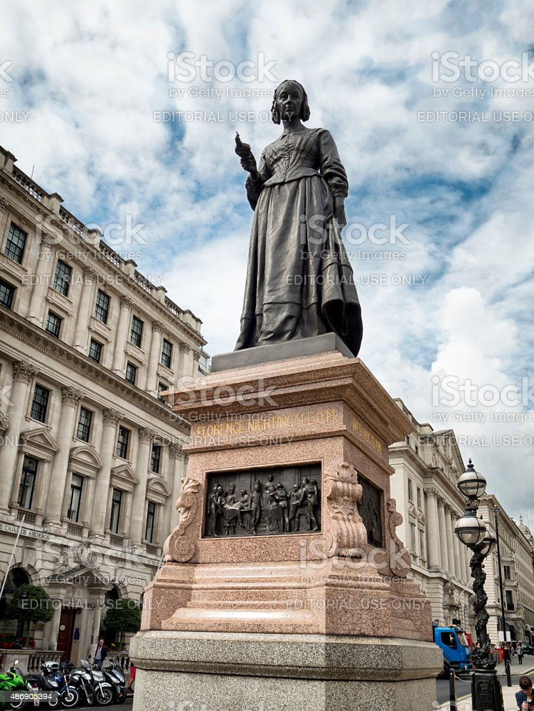Statue of Florence Nightingale stock photo