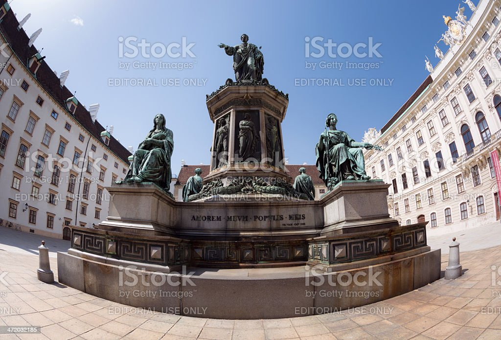 Statue of Francis II at Hofburg Complex in Vienna, Austria stock photo