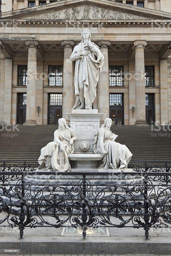 Statue of Friedrich Schiller stock photo