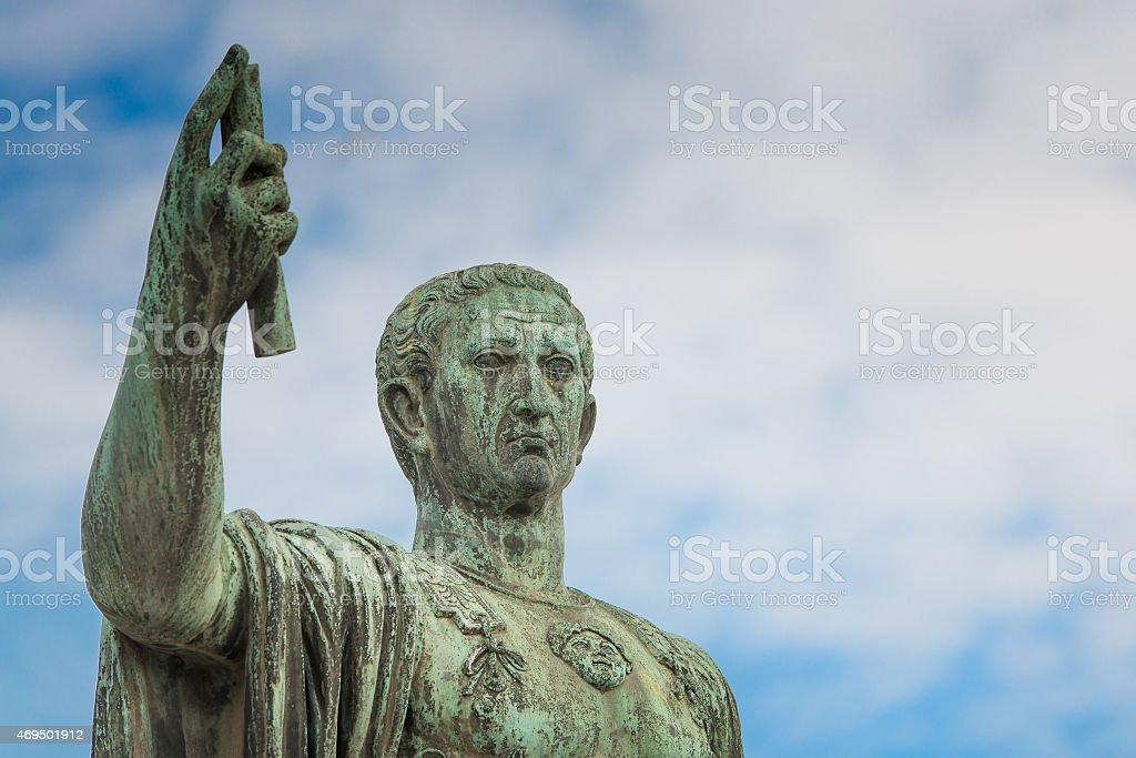Statue of Gaius Julius Caesar in Rome, Italy stock photo