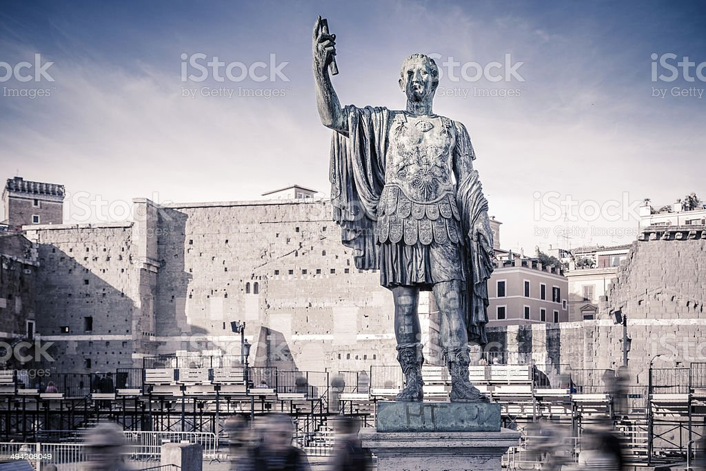Statue of Gaius Julius Caesar in Rome, Italy stock photo