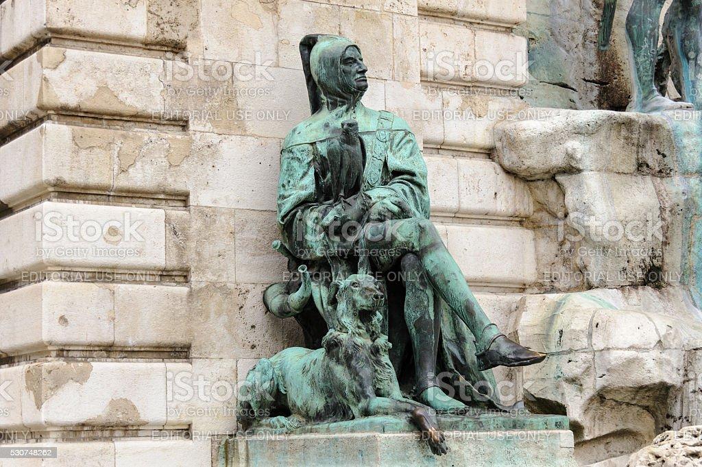 Statue of Galeotto Marzio stock photo
